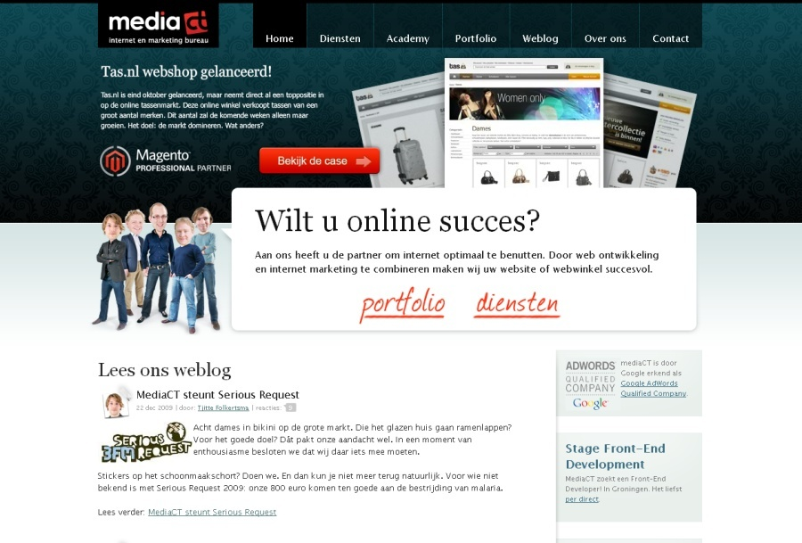 A great web design by mediaCT, Groningen, Netherlands: