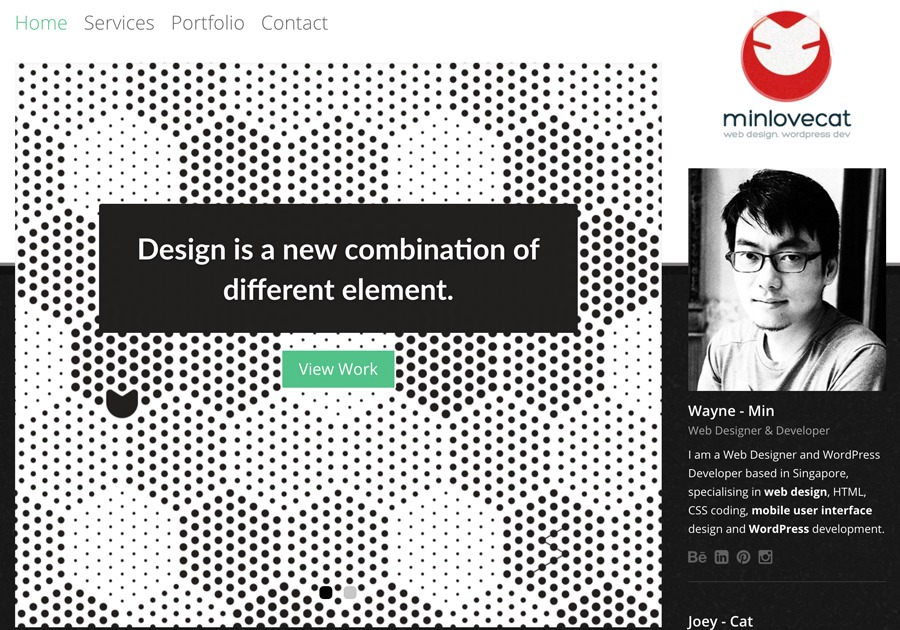 A great web design by minlovecat, Singapore, Singapore: Responsive Website, Portfolio , Internet , Wordpress