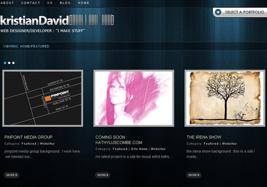 A great web design by kristianDavid, Toronto, Canada: