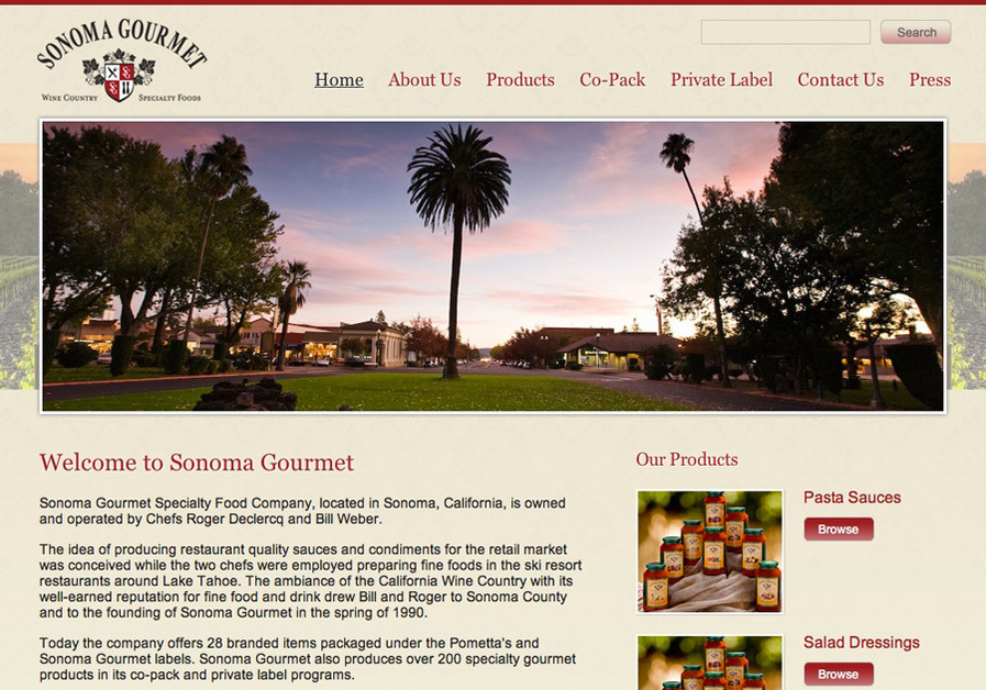 A great web design by Encaffeinated, San Francisco, CA: