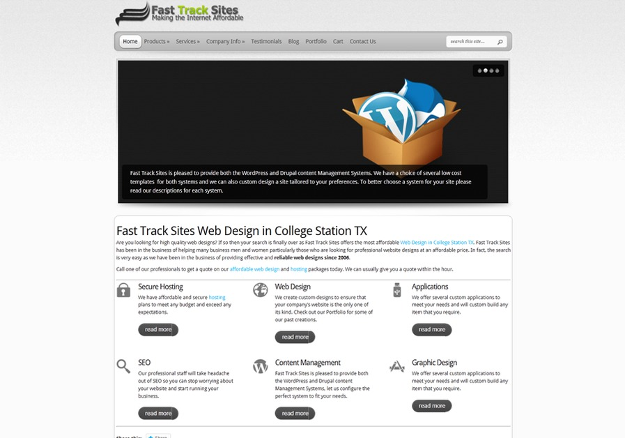 A great web design by Fast Track Sites, College Station, TX: