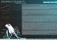 A great web design by Geoff Guidetti, San Francisco, CA: