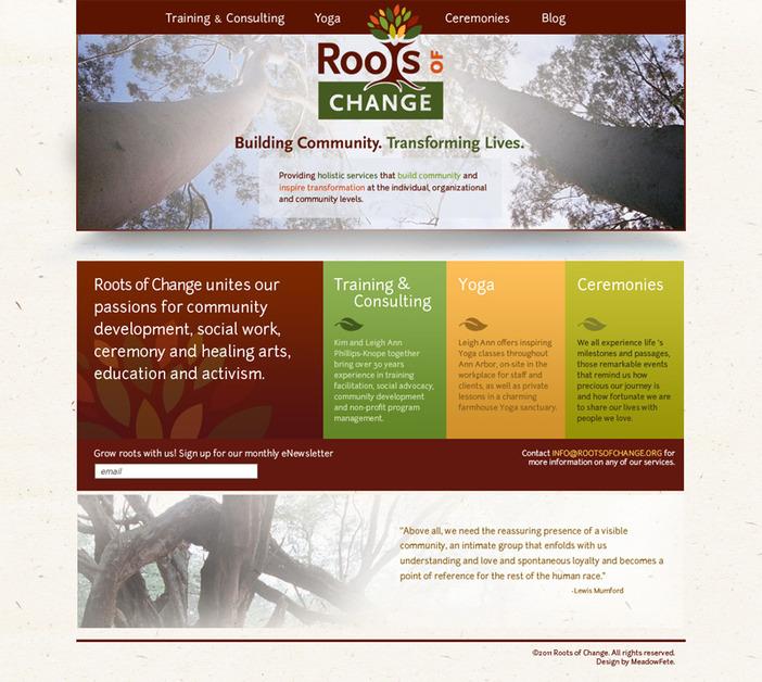 A great web design by Meadow Fête Media, Ann Arbor, MI: