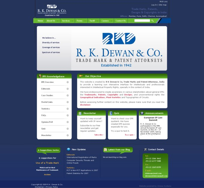 A great web design by Omesa Systems Pvt. Ltd., Pune, India: