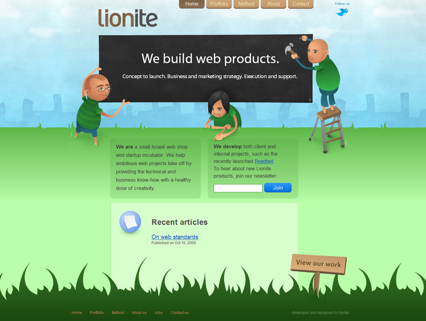 A great web design by Lionite, Tel Aviv, Israel: