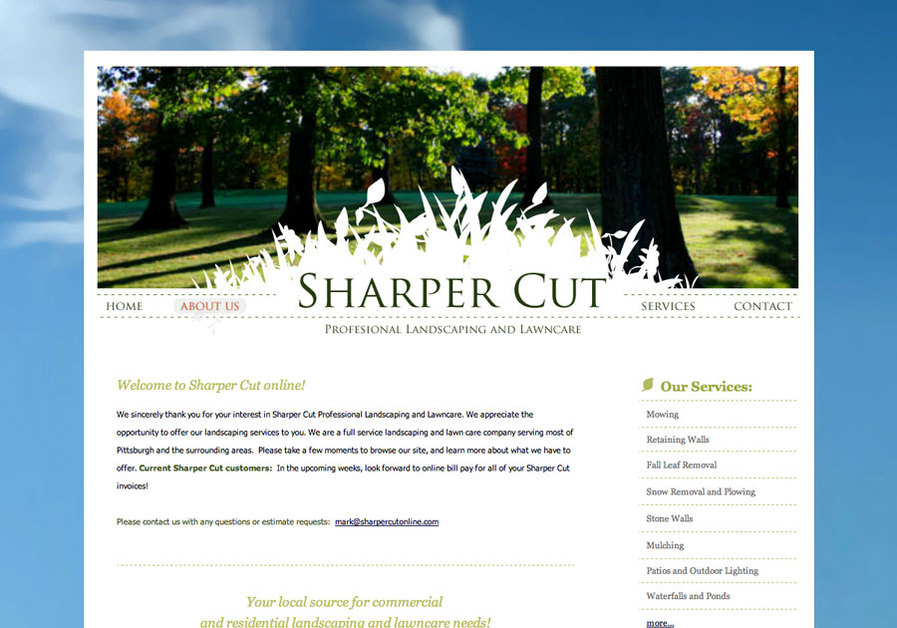 A great web design by v13 Designs, Pittsburgh, PA:
