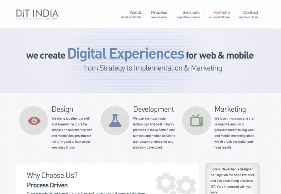 A great web design by Dit India, Ahmedabad, India: