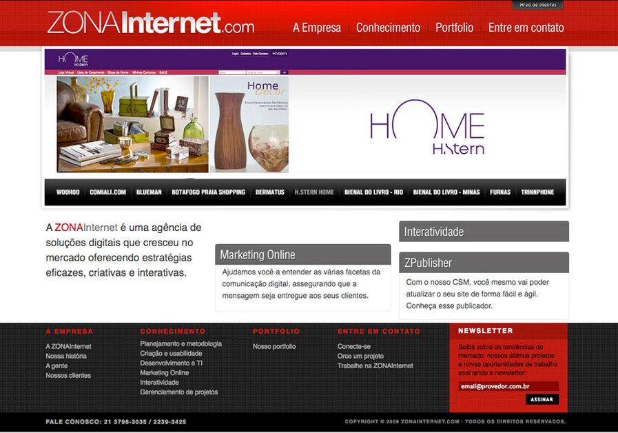 A great web design by ZONAInternet, Rio de Janeiro, Brazil: