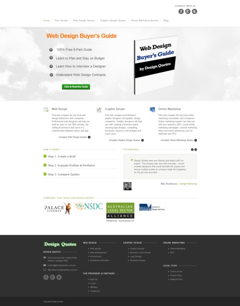 A great web design by Design Quotes Australia, Melbourne, Australia: