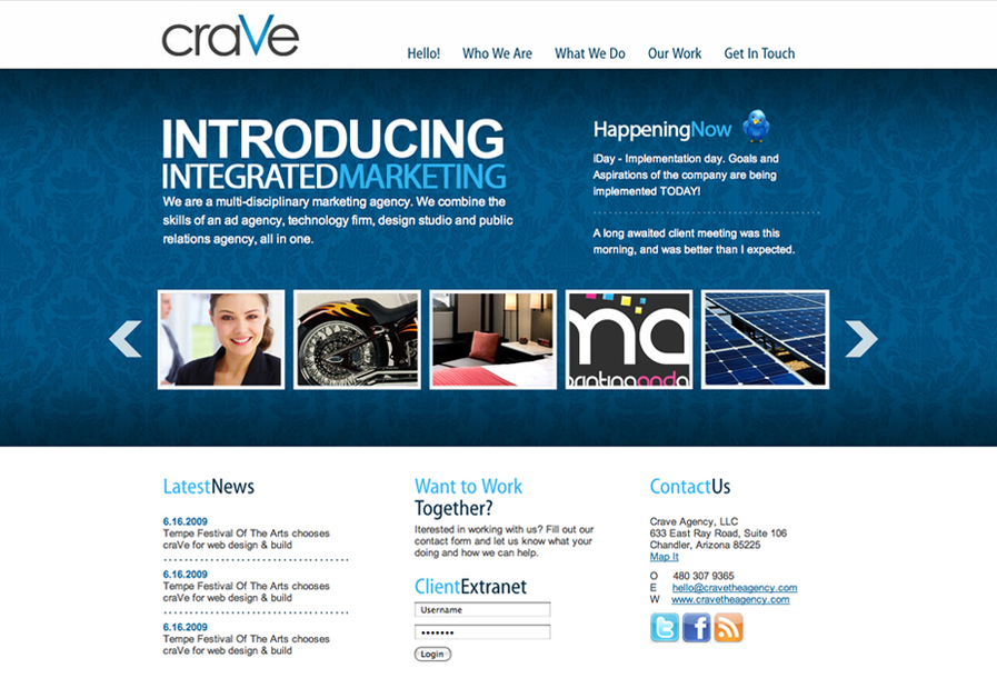 A great web design by CraVe Agency, Phoenix, AZ: