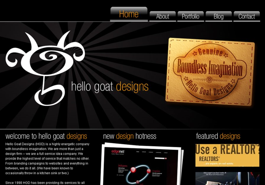 A great web design by Hello Goat Designs, Milwaukee, WI: