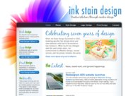 A great web design by Ink Stain Design, Toronto, Canada: