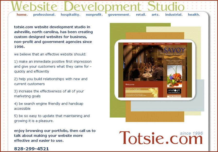 A great web design by Totsie.com Website Studio, Asheville, NC: