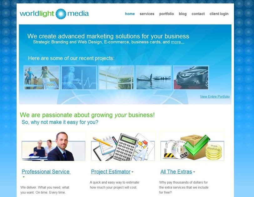 A great web design by WorldLight Media, Everett, WA: