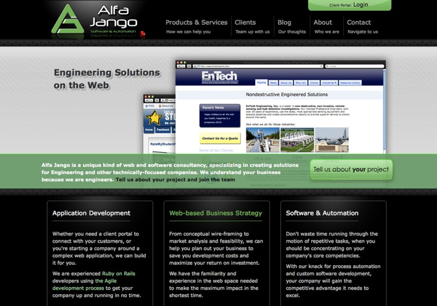 A great web design by Alfa Jango, LLC, Ann Arbor, MI: