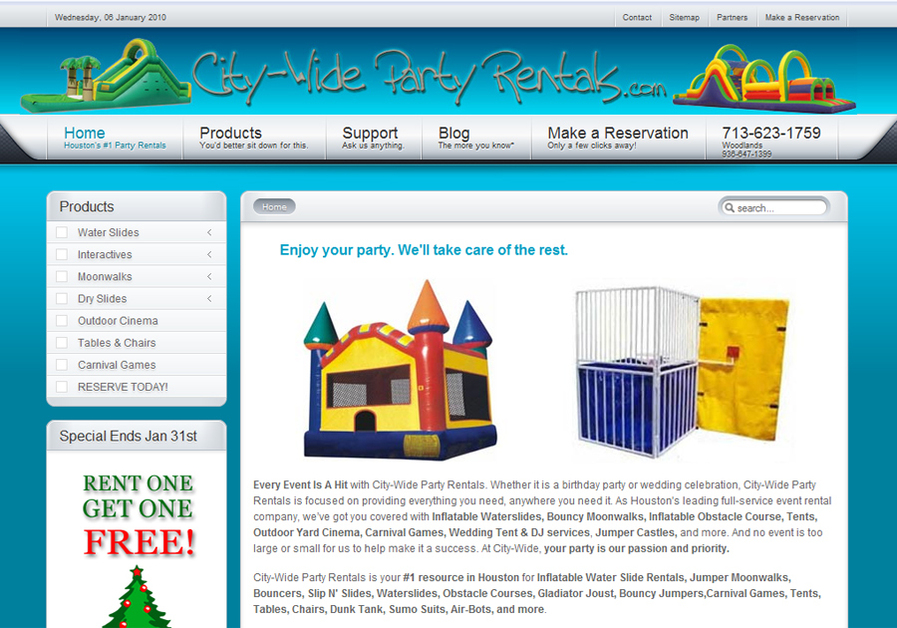 A great web design by FullCartSEO, Houston, TX: