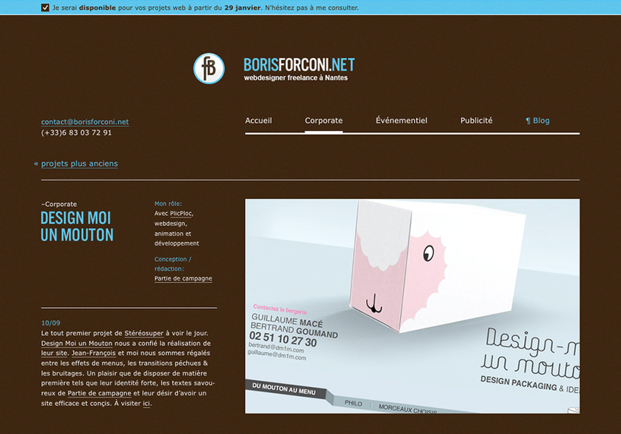 A great web design by borisforconi.net, Nantes, France: