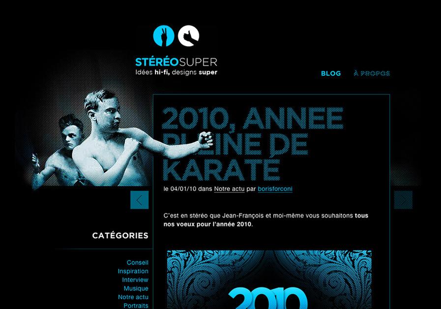 A great web design by Stéréosuper, Nantes, France: