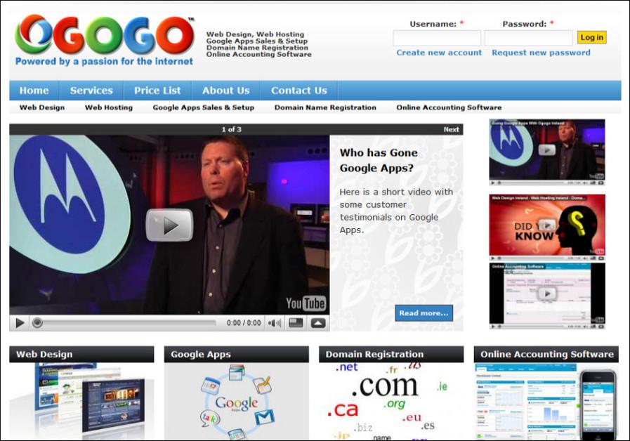 A great web design by Ogogo Internet, Cork, Ireland: