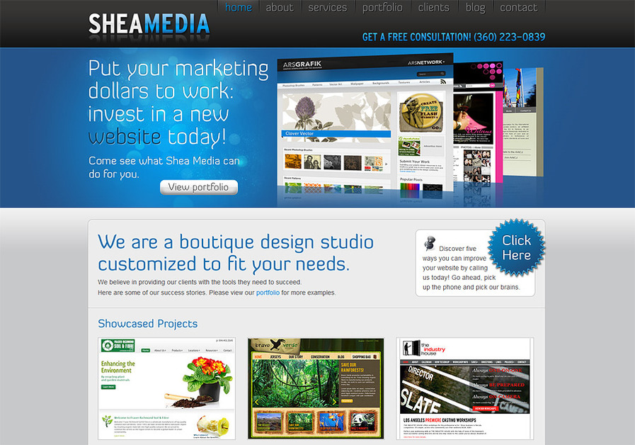 A great web design by Shea Media, LLC, Austin, TX: