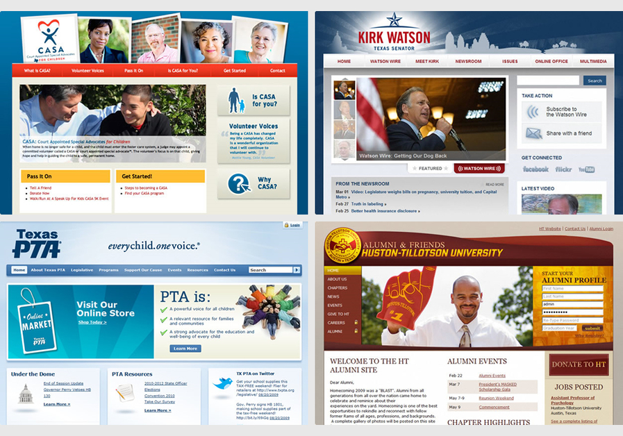 A great web design by TradeMark Media, Austin, TX: