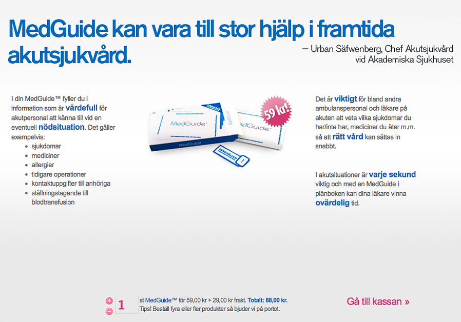 A great web design by Media People, Linkoping, Sweden: