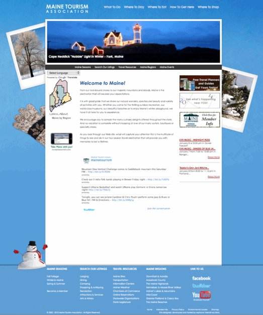 A great web design by Sephone Internet Solutions, Bangor, ME:
