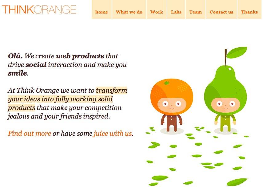 A great web design by Think Orange, Lisbon, Portugal: