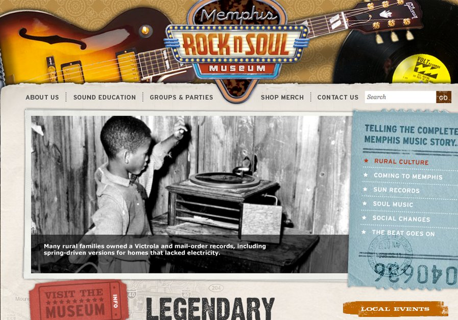A great web design by Speak Creative, Memphis, TN: