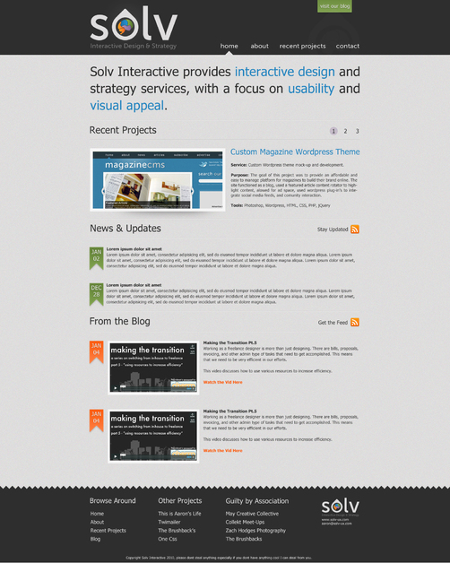 A great web design by Solv Interactive, San Diego, CA: