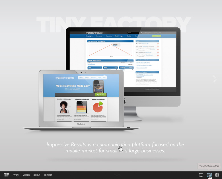 A great web design by Tiny Factory - Mobile Web Application Development , Los Angeles, CA: