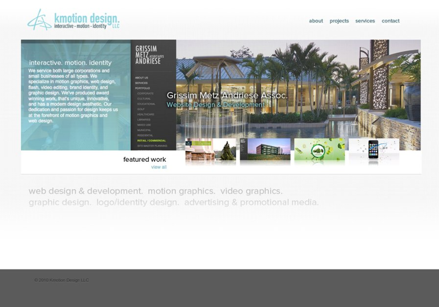 A great web design by Kmotion Design, Grand Rapids, MI:
