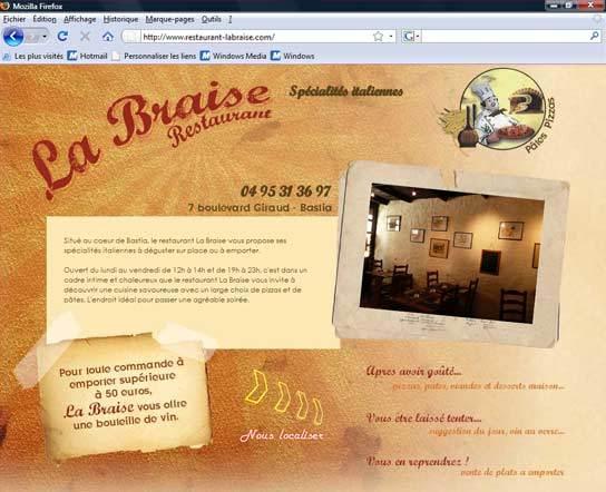 A great web design by Kalli Graphic, Bastia, France: