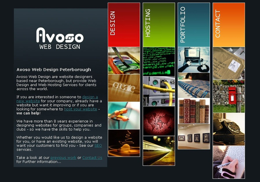 A great web design by Avoso, Peterborough, United Kingdom: