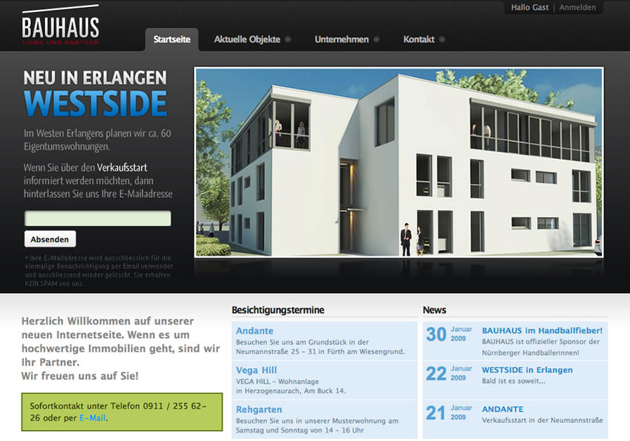 A great web design by DELACAP, Nuernberg, Germany: