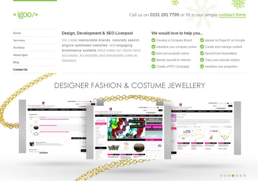 A great web design by igoo, Liverpool, United Kingdom: