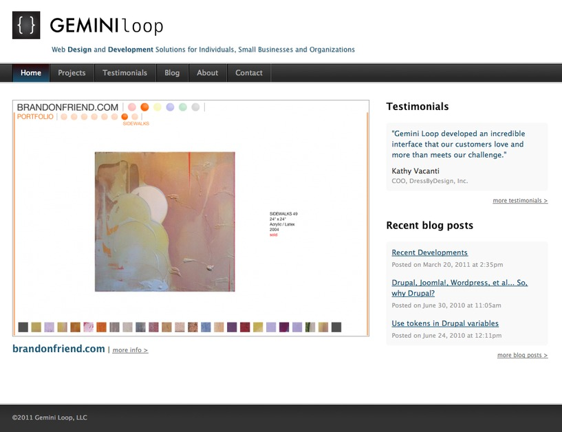 A great web design by Gemini Loop, LLC, New York, NY: