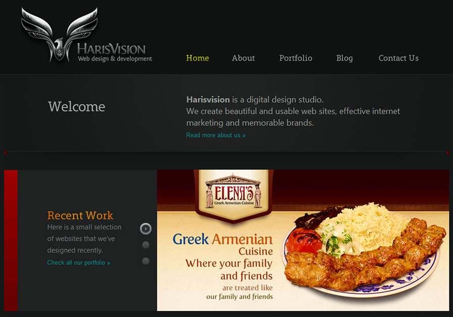 A great web design by Harisvision Web design, Los Angeles, CA: