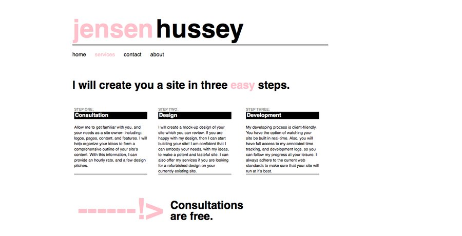 A great web design by Jensen Hussey, Atlanta, GA: