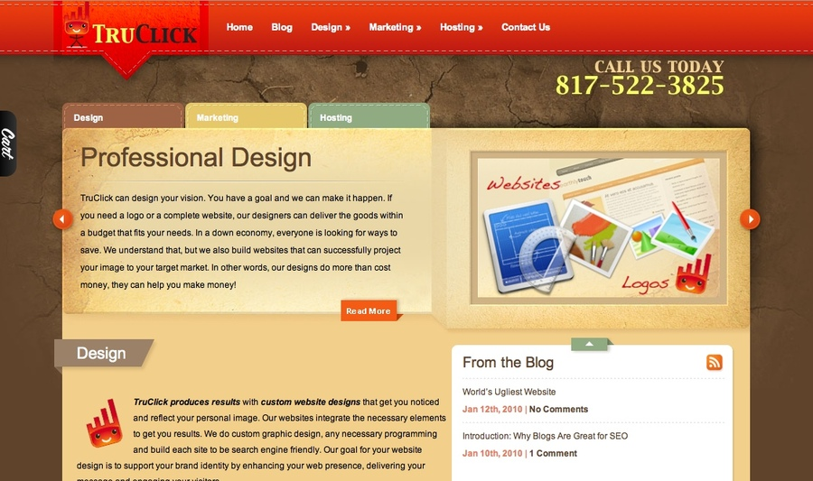 A great web design by TruClick.com, Dallas, TX: