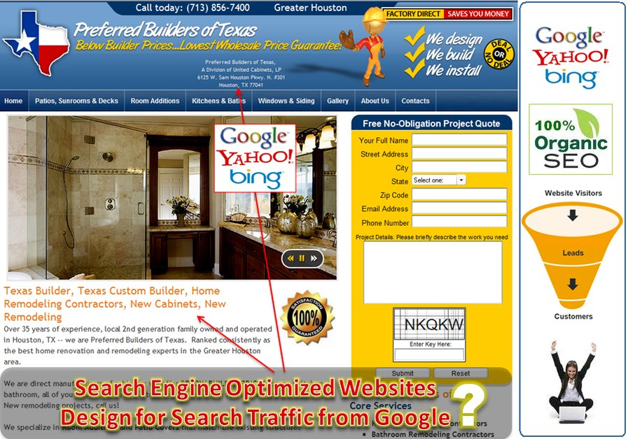 A great web design by Search Engine Optimization (SEO), Houston, TX: