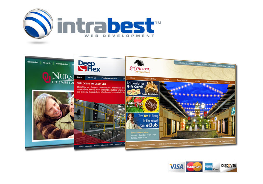 A great web design by intrabest.com, Houston, TX: