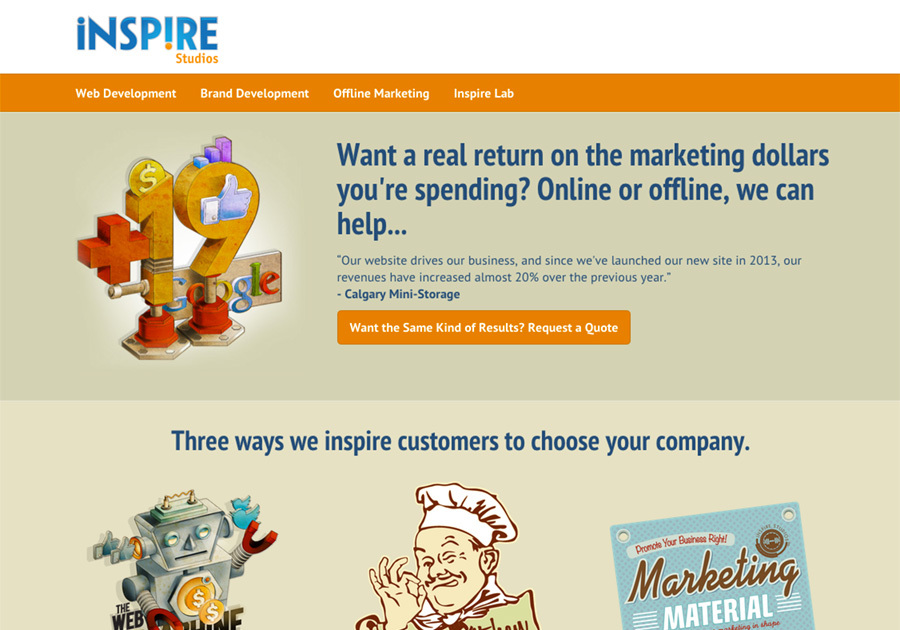 A great web design by Inspire Studios, Calgary, Canada: Responsive Website, Marketing Website , Other