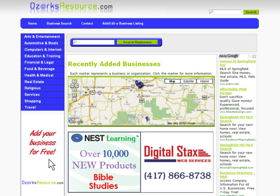 A great web design by Digital Stax, Springfield, MO: