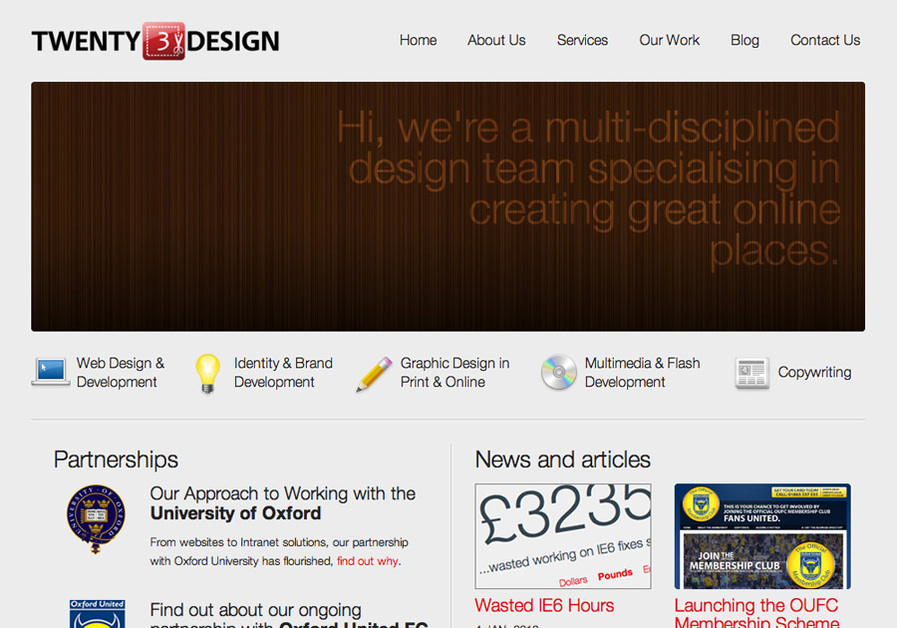 A great web design by Twenty3design, Oxford, United Kingdom: