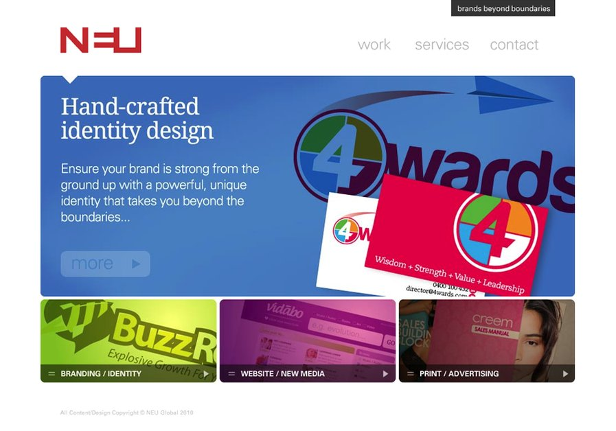 A great web design by NEU Global, Melbourne, Australia: