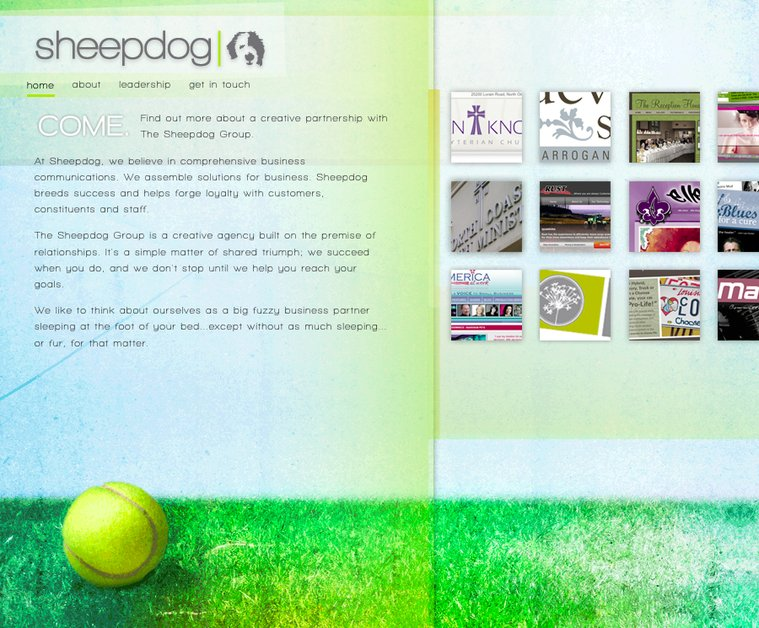 A great web design by The Sheepdog Group, Cleveland, OH: