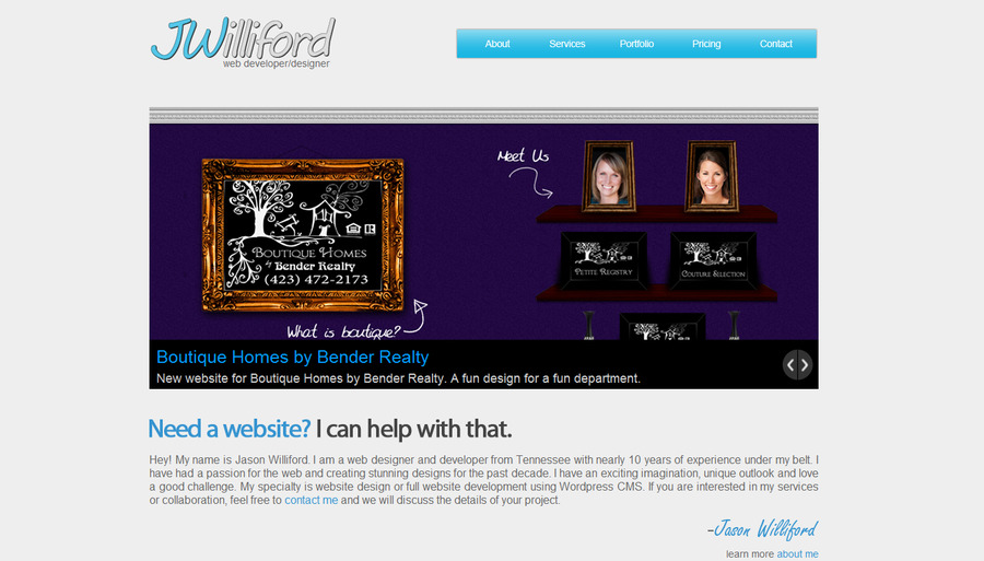 A great web design by JWilliford, Cleveland, TN: