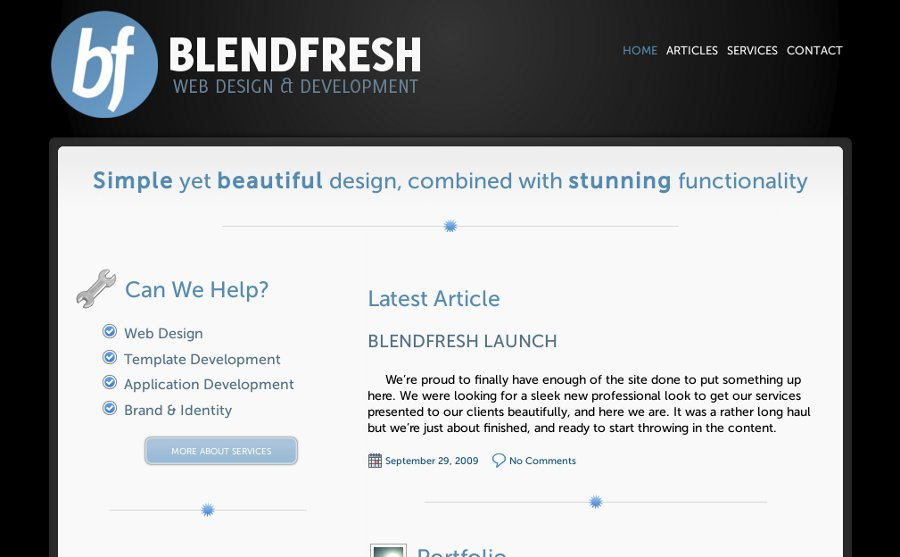 A great web design by Blendfresh, Beloit, WI: