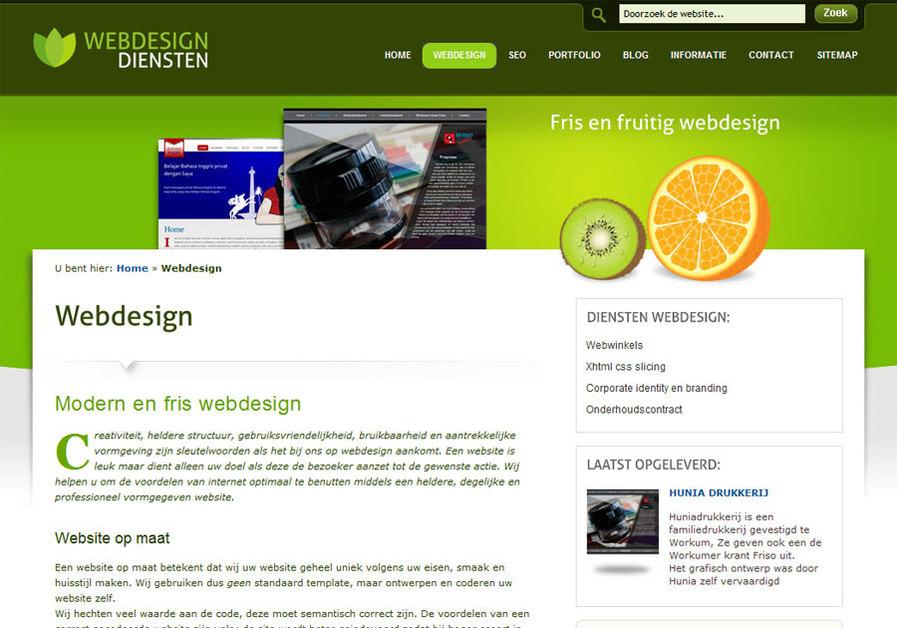 A great web design by webdesigndiensten, Groningen, Netherlands: